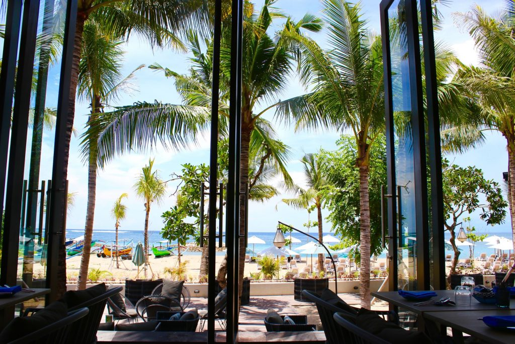 View from Sands Restaurant at the ANVAYA Bali