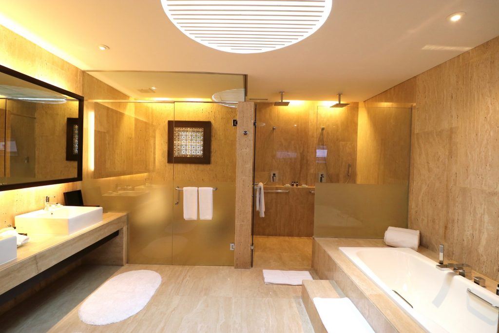 Bathroom of the Beachfront Private Suite at ANVAYA Bali