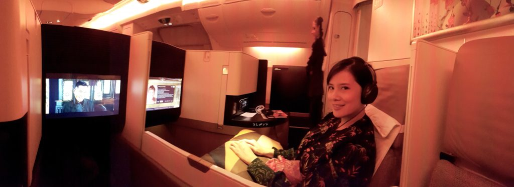 Etihad Airways Business Studio on the A380