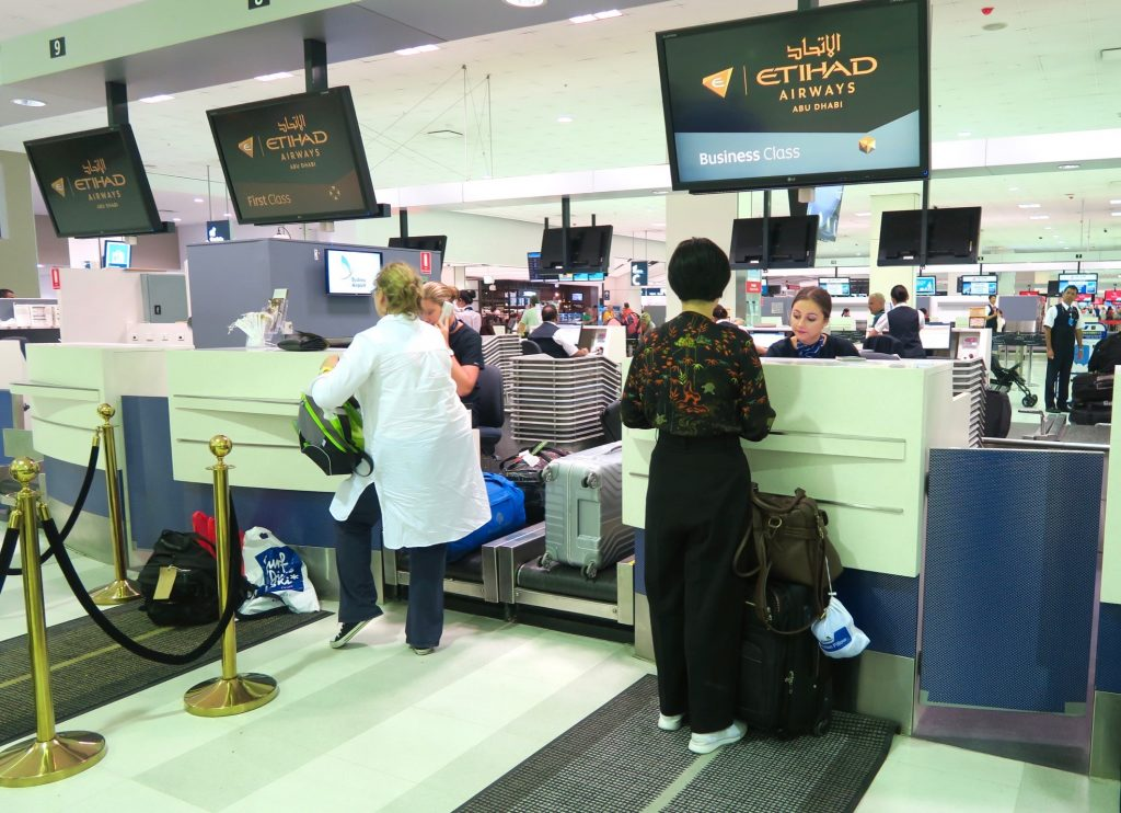 Etihad Airways Check-In Counters Sydney Airport
