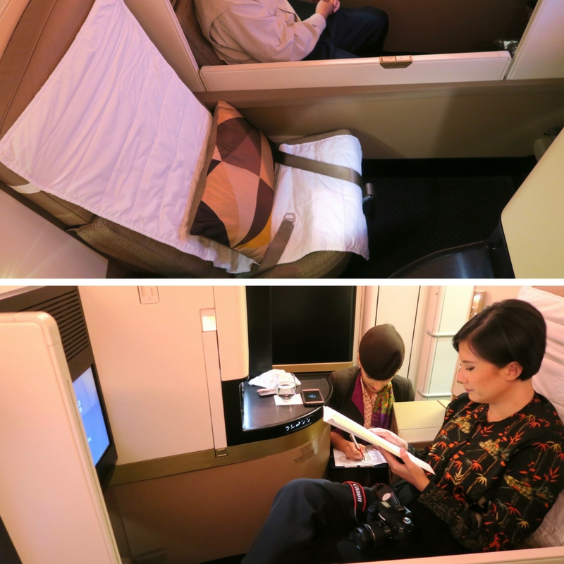 Etihad Airways Business Class EY 455 Sydney to Abu Dhabi Business Studio A380