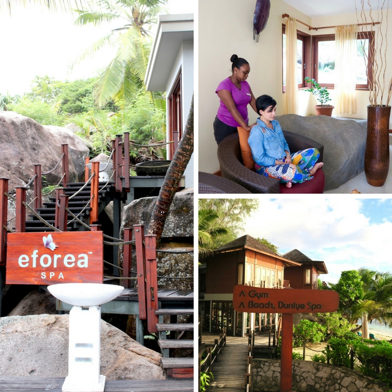 Doubletree by Hilton Seychelles Allamanda's Eforea Spa offers a complimentary welcome massage