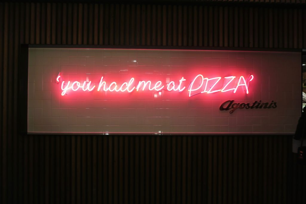 """You had me at Pizza""- Agostini's Canberra"