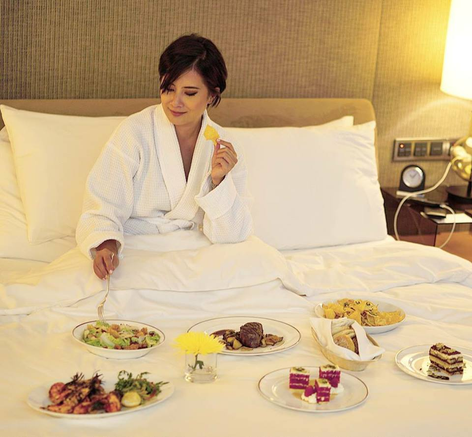 late night room service dinner at the Park Hyatt Abu Dhabi