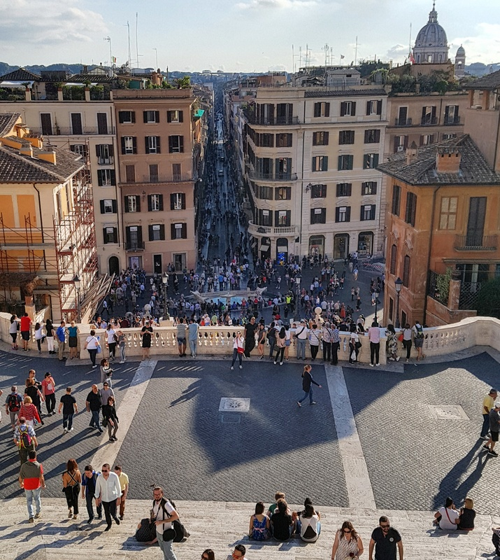 The Spanish Steps in Rome: Last stop of The Roman Guy's Walking and Driving tour of Rome