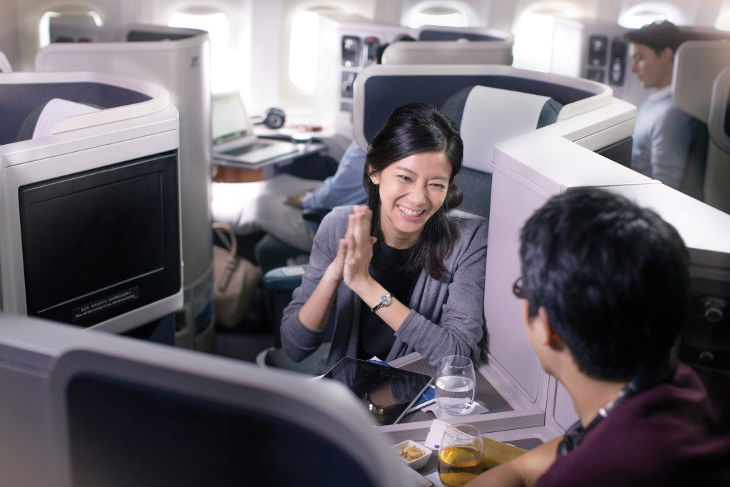 Getting Business Class upgrade is one of the perks of frequent flyer points accumulation