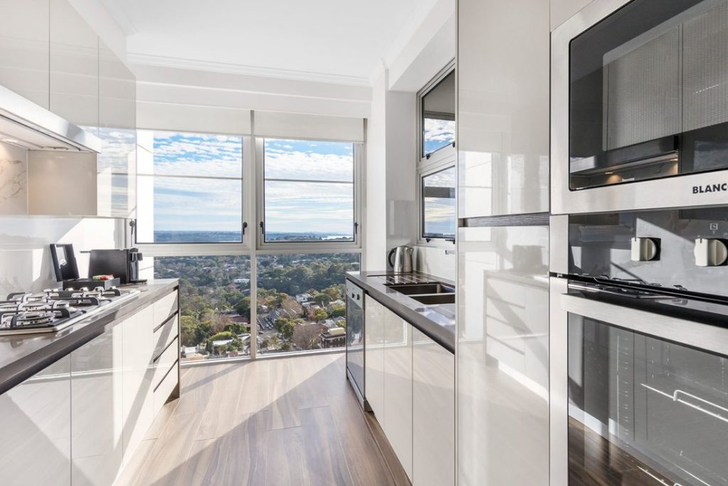 Kitchen in a Modern Suite, Meriton Luxury Apartments Bondi Junction Sydney