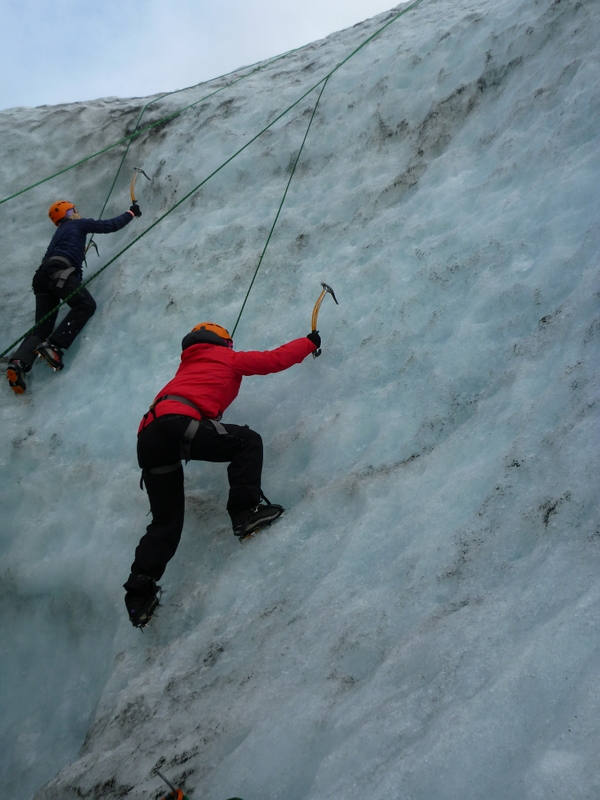 Ice Climbing in Iceland is a very rewarding activity