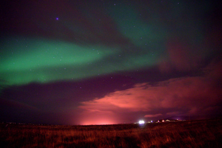 Iceland is the only place in the world where you can see the Northern Lights from its capital, Reykjavik