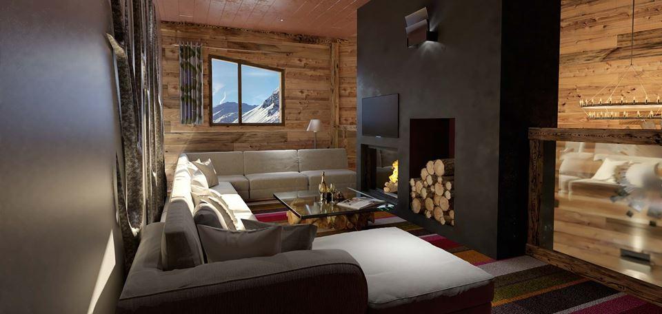 Mezzanine at Chalet Kobuk in Avoriaz. Photo from Oxford Ski Company.
