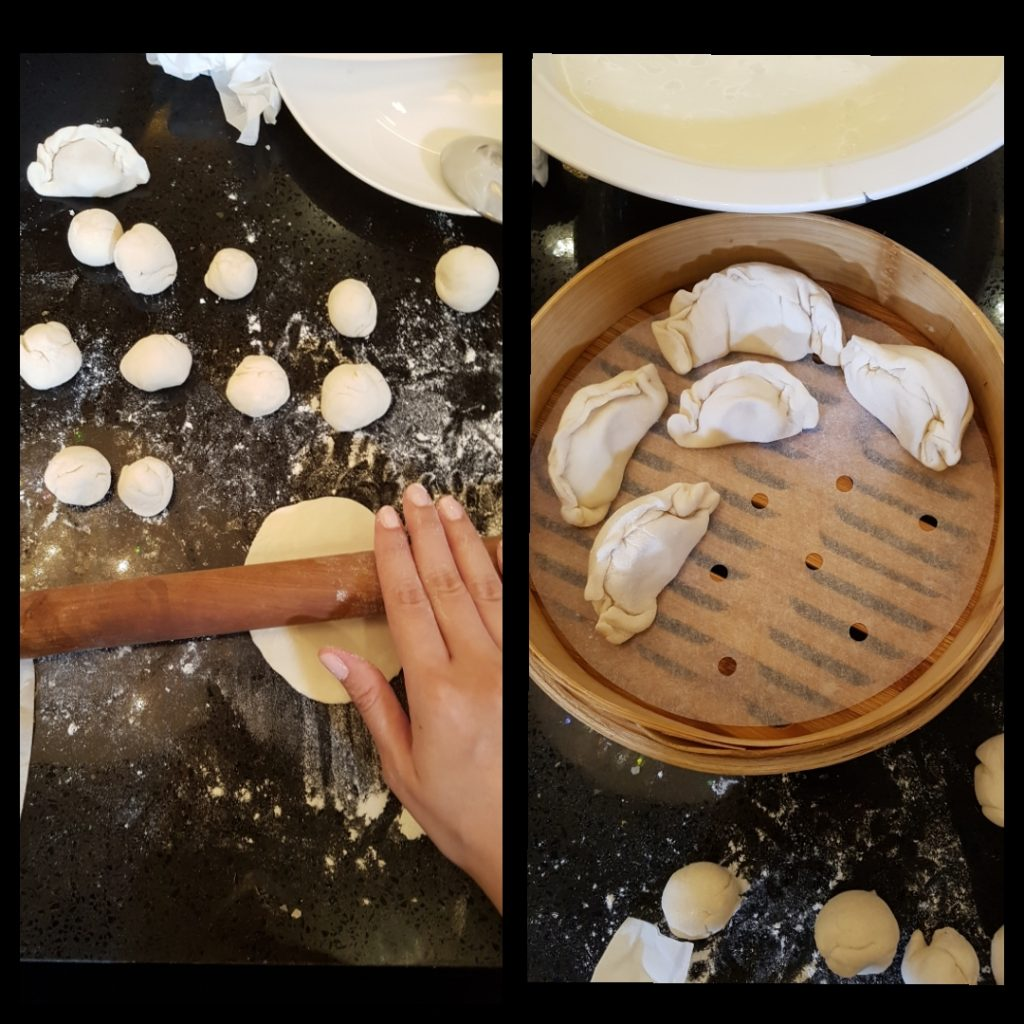making of a dumpling