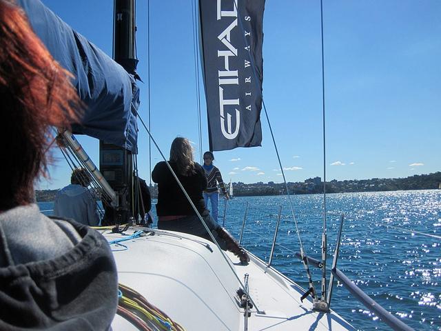 Sailing Aboard the Etihad Yacht