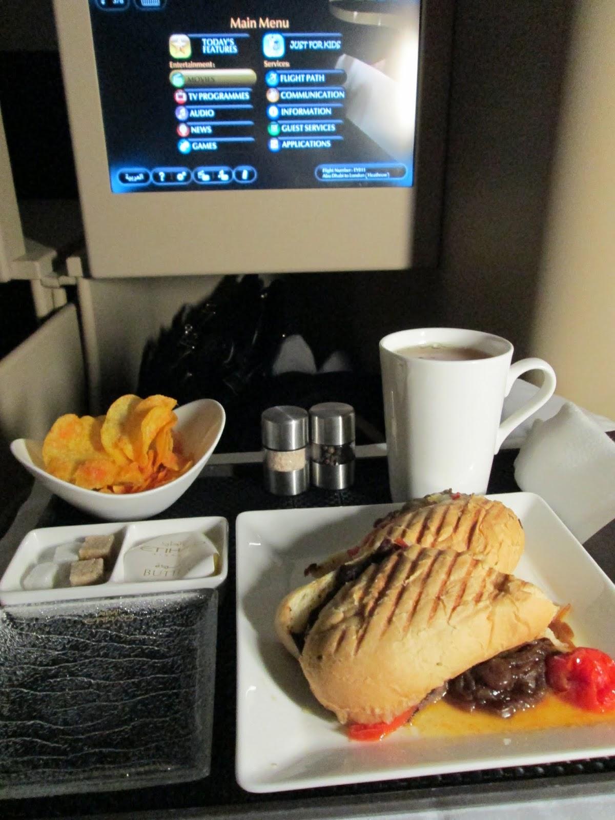 Etihad Business Class Flight Abu Dhabi – London