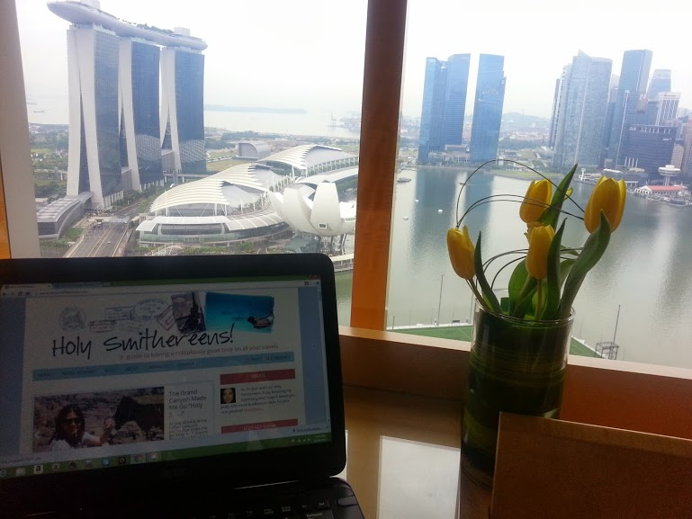 it is the perfect working condition, if you don't get distracted by the marvelous view