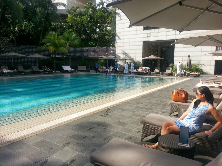 The pool at the Ritz-Carlton Millenia Hotel Singapore