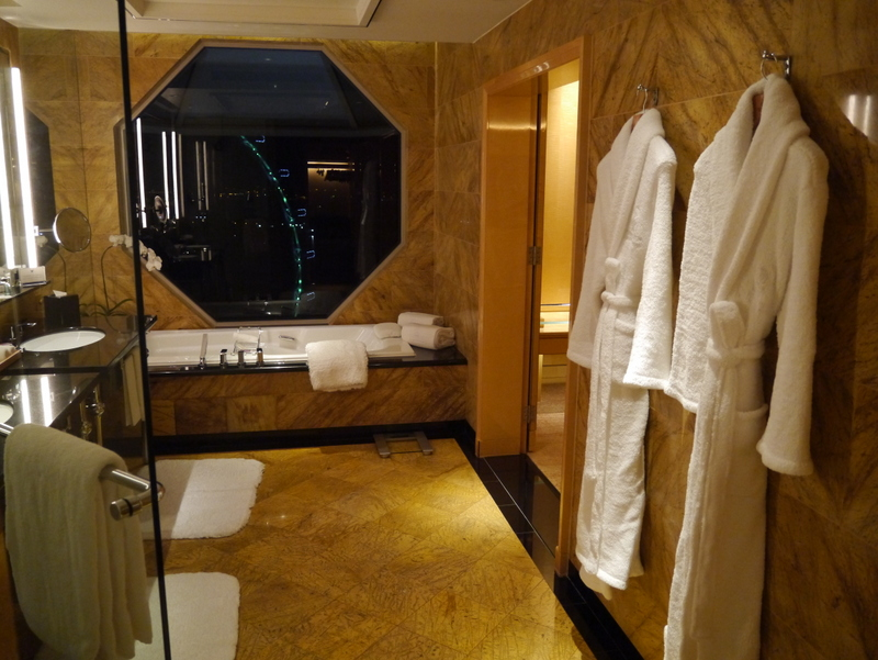 Bathroom with a view: Club Level Room Marina Bay view at the Ritz-Carlton Millenia Singapore