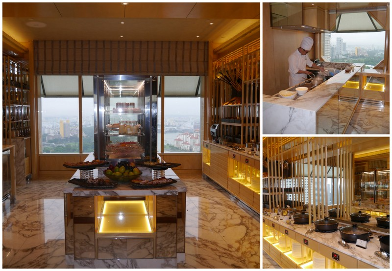 The newly-renovated Club Lounge at the Ritz-Carlton Millenia Hotel Singapore