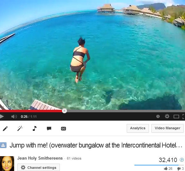 Jumping Off Overwater Bungalows: A Holy Smithereens tradition!