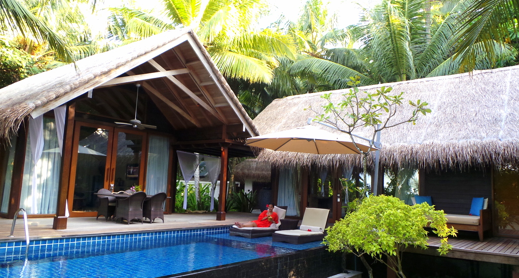 Deluxe Pool Villa at the Shangrila's Villingili Resort & Spa