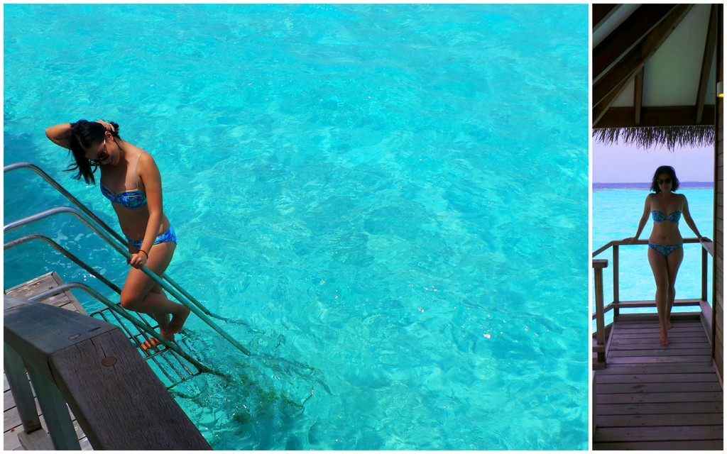 love that this bikini matches the blue hues of the Indian Ocean!