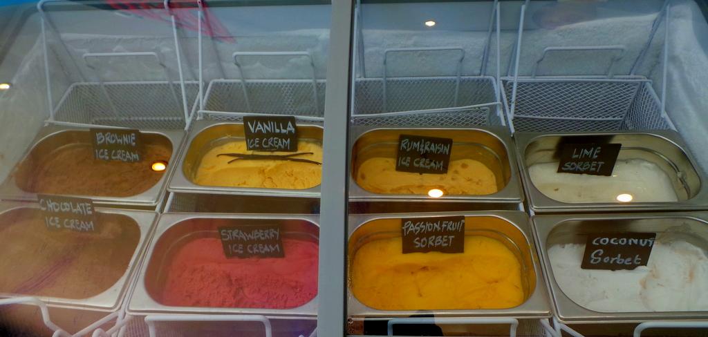 Ice cream bar at The Deli. NIYAMA Maldives review