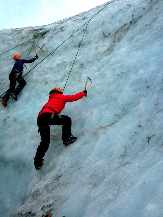 Ice Climbing in Glacier