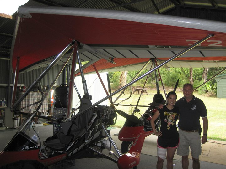 Flew a Microlight the day after I had a dragon boat injury