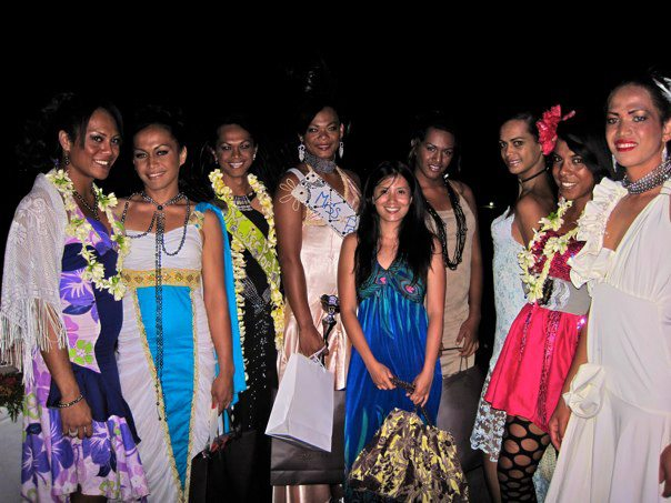 The winners and contestants of Miss Poehine Tahiti 2012