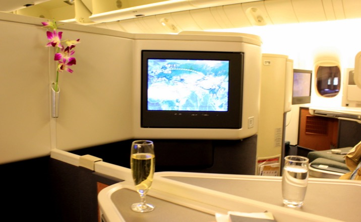 Cathay Pacific CX 256 Hong Kong to London Business Class
