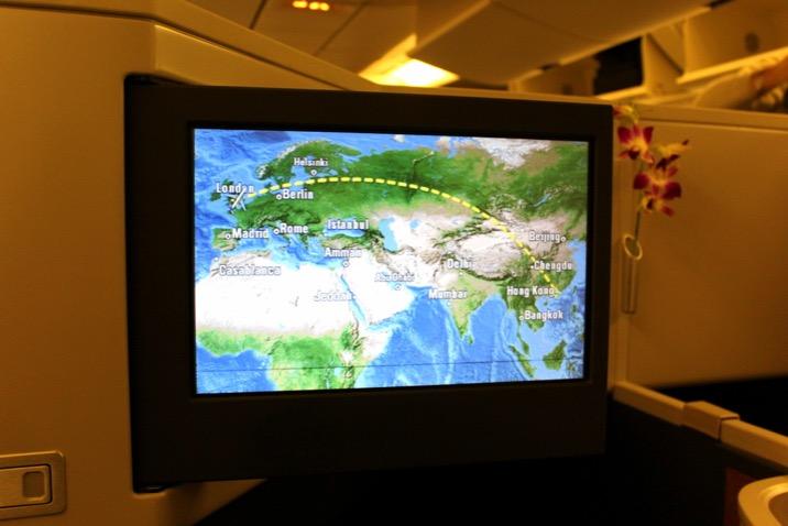 Flight Path London to Hong Kong Cathay Pacific CX 256