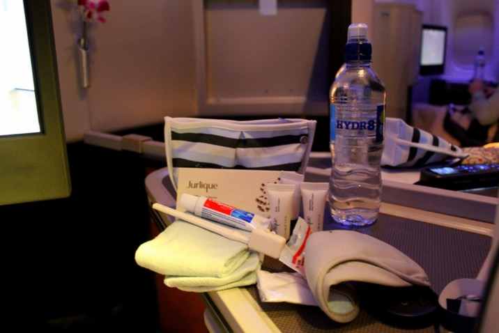 Amenity Kit for Cathay Paciifc Business Class CX 256 London to Hong Kong