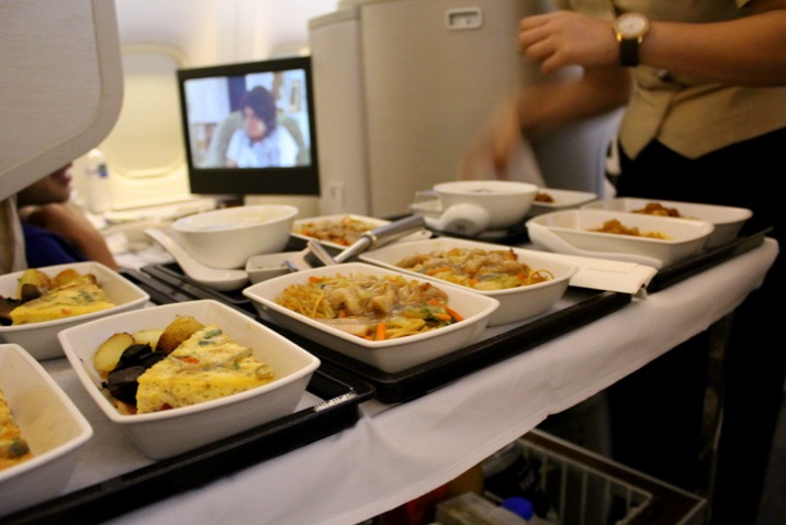 Pick your breakfast! Cathay Pacific CX 256 London to Hong Kong, Business Class