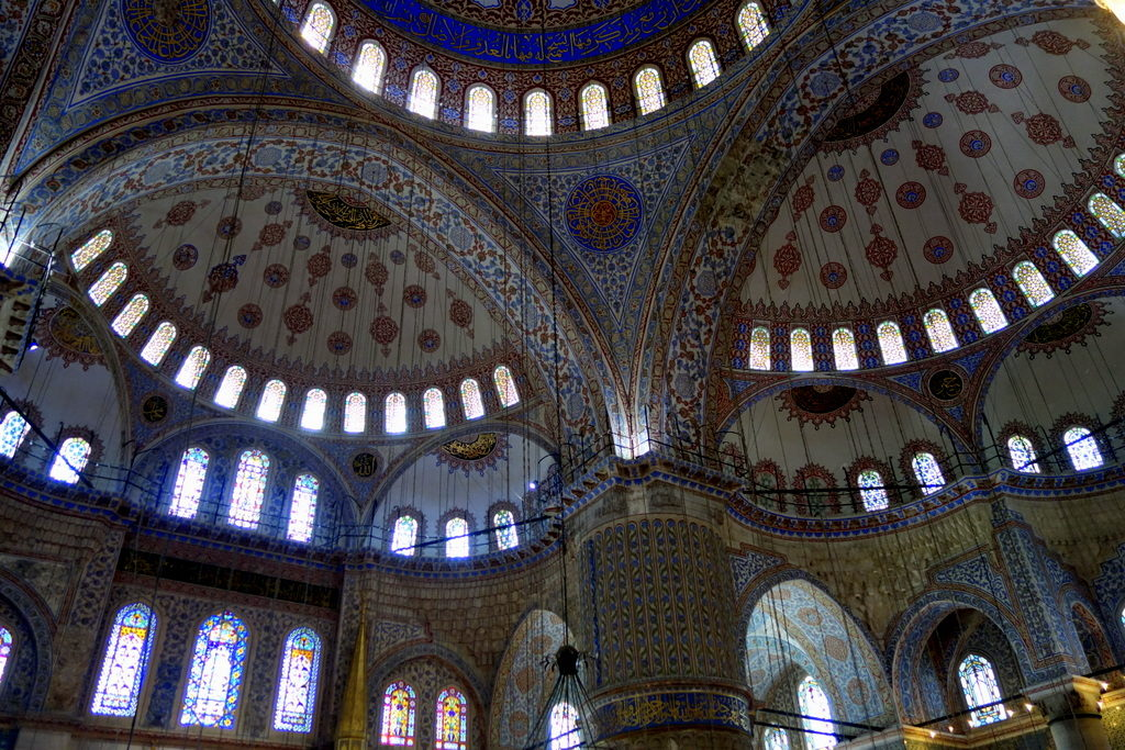 The interior of the  Blue Mosque, Istanbul