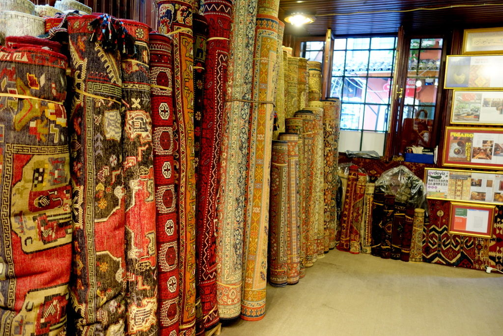 rugs and carpets for sale at the Grand Bazaar, Istanbul