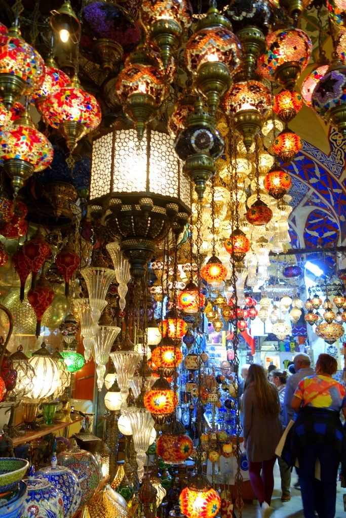 magical lights. Grand Bazaar, Istanbul