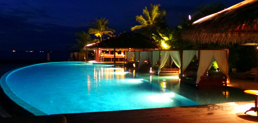 The pool at the Residence Maldives