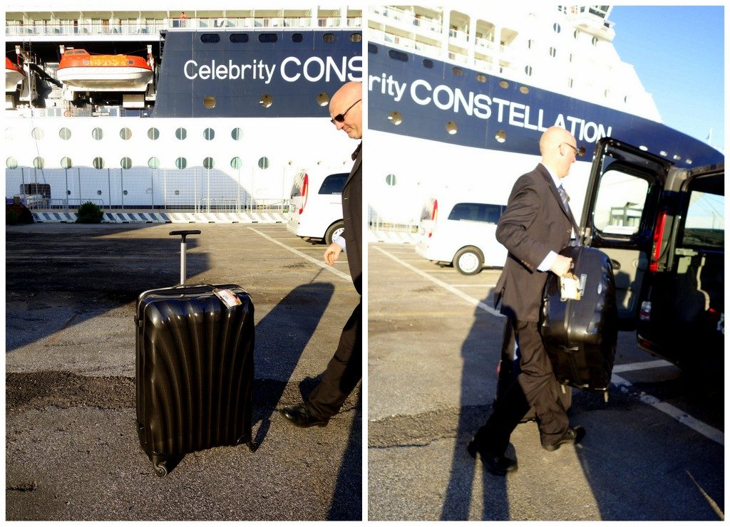 The Samsonite Cosmolite 81cm. At the end of the cruise