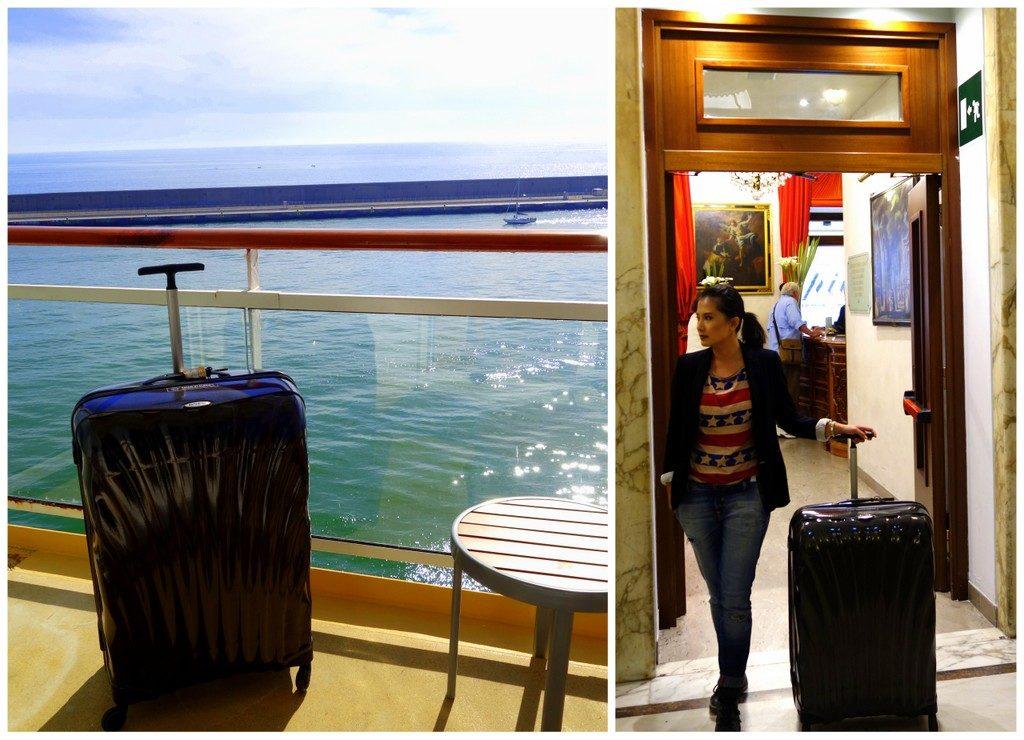 Taking the Samsonite Cosmolite on board a Mediterranean Cruise