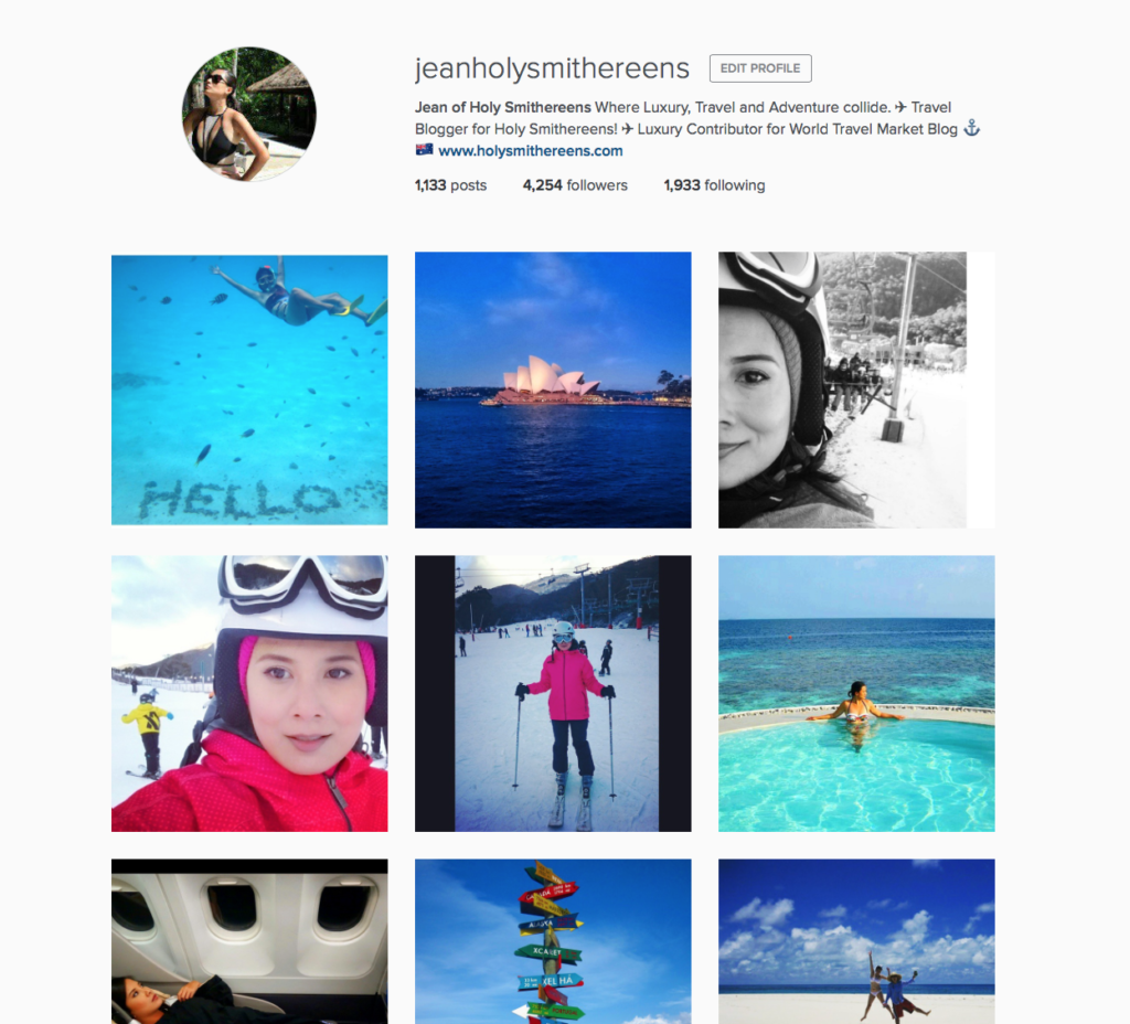@jeanholysmithereens on Instagram