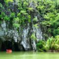 entering the underground river of Puerto Princesa