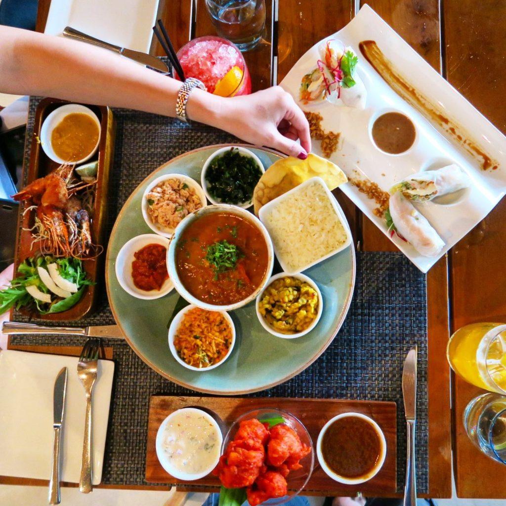 Curry lunch at Turquoise Restaurant, Velassaru Maldives