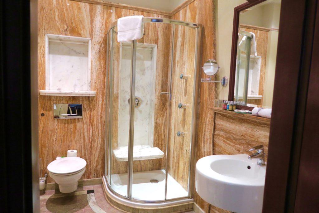 bathroom at the Copernicus Hotel Krakow