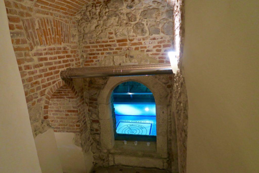 A peak of the underground pool at Copernicus Krakow Hotel