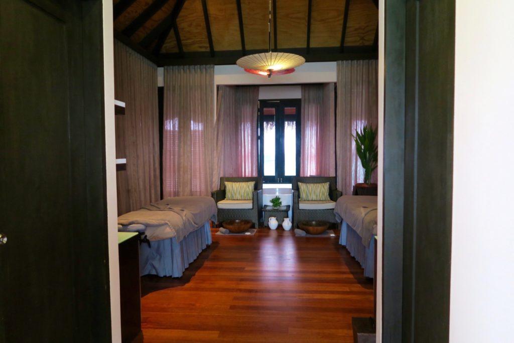 Couples treatment at the Spa, Velassaru Maldives