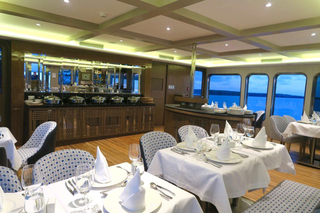 Dining are of Ecoventura's MV Origin