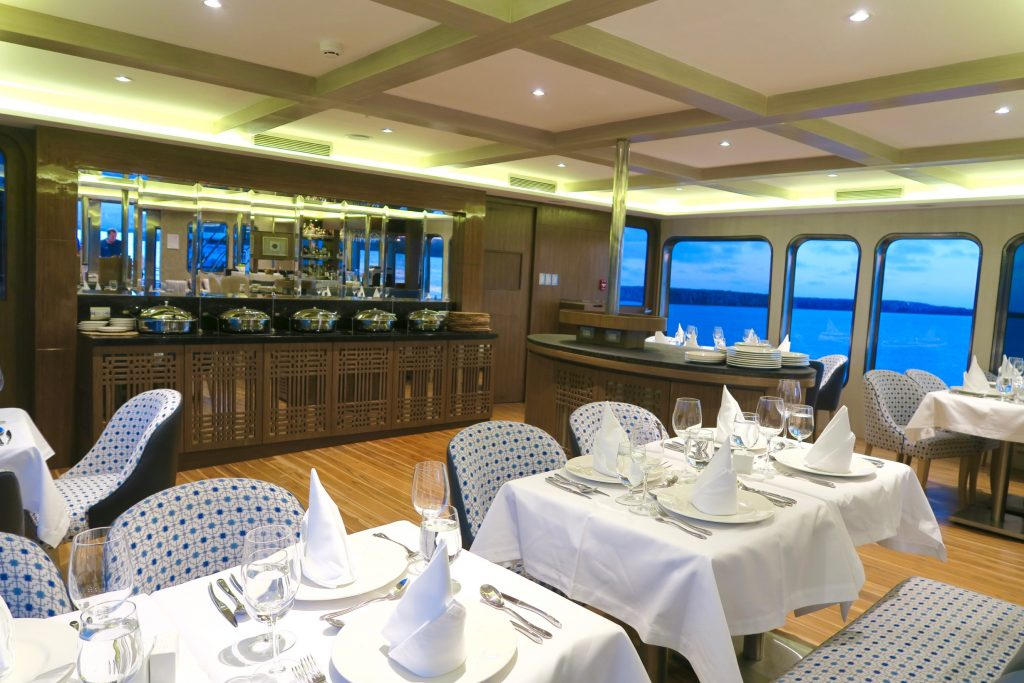 Dining at the Ecoventura's MV Origin