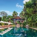 Poolside area of Belmond La Residence d'Angkor