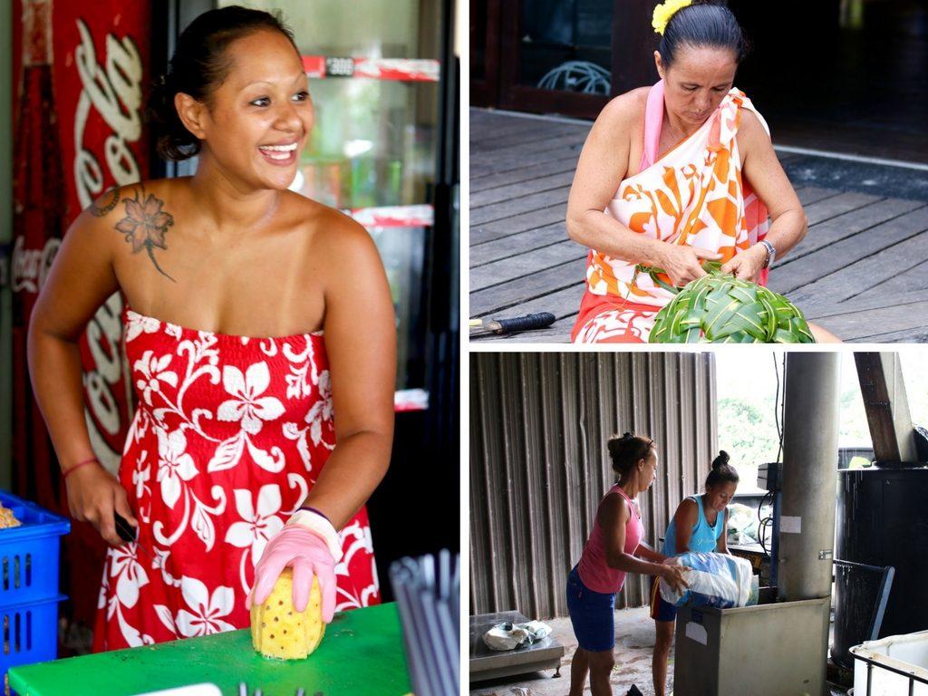 The women of Tahiti
