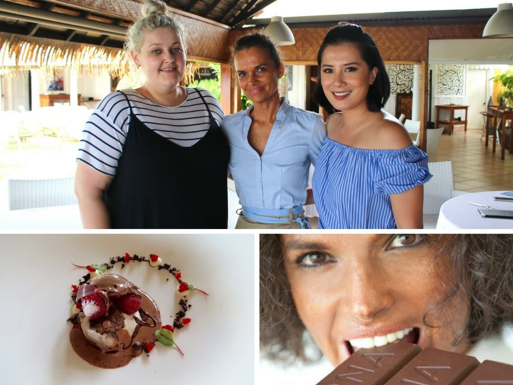 Meeting Le Coco's Pastry Chef Benedicte (middle)