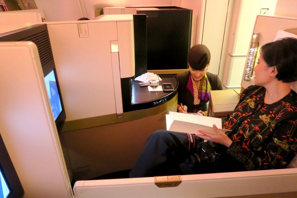 Etihad Airways EY455 Sydney to Abu Dhabi Business Class A380
